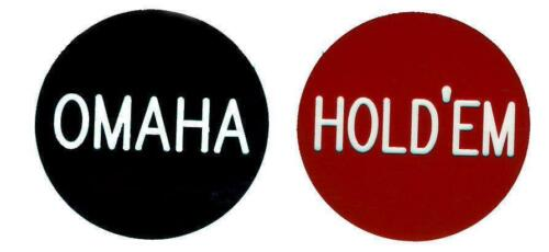 Hold Em / Omaha 2 Inch Button USA Seller Free Shipping