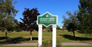 Burial plot for sale in the Oceanview Memorial Gardens