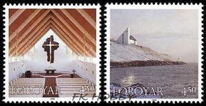 Denmark Faroe 1998 Mi 345-46 ** Church Kościół - <span itemprop=availableAtOrFrom> Dabrowa, Polska</span> - Denmark Faroe 1998 Mi 345-46 ** Church Kościół -  Dabrowa, Polska
