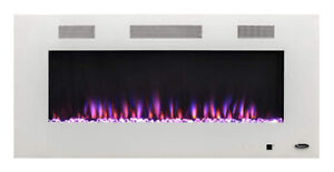 Paramount 42-inch Electric Fireplace with Bonus Kit in White