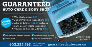 OUT OF PROVINCE INSPECTION $80 WINTER SPECIAL!!!