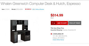 Staples desk with hutch