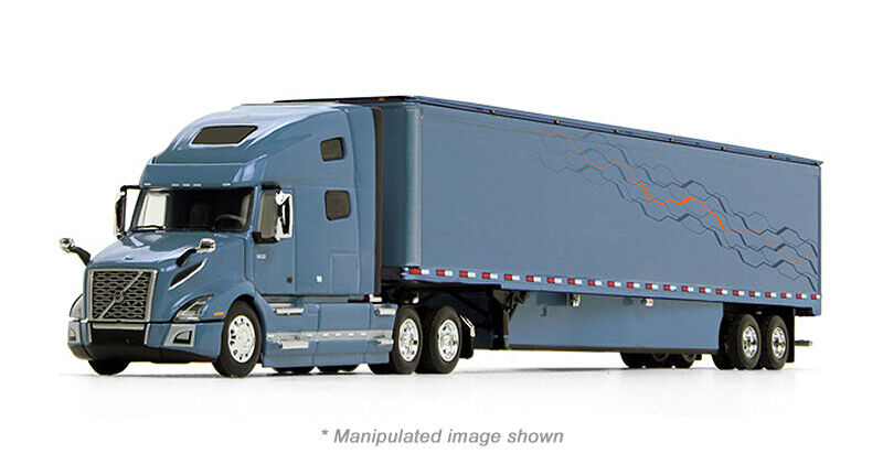 1/64 DCP Volvo VNL 760 High-Roof Sleeper in Smoky Mountain Blue with 53' Trailer
