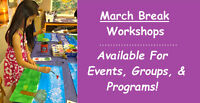 Children's Workshops & Face Painting For March Break Available