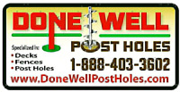 Post holes services!