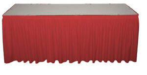 Table Skirts and Stage Skirts for Trade Show / Banquet Halls