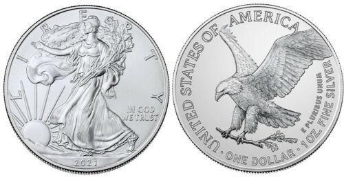 2021 Silver American Eagle 1 oz Silver TYPE II Capsuled PRESALE USA Made BU Coin