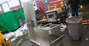 *SS commerical L shape single sink buildin.Save*