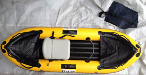 Inflatable Kayak - Yellow/Black