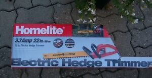 """NEW Homelite Electric 22"""" Hedge Trimmer"""