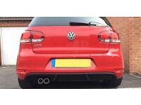 VW Golf Mk6 GTD Rear Diffuser - GTI Style Rear Valance Reiger Style Apron