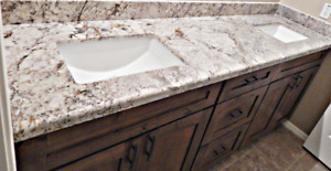 Granite / quartz installation for counter top /  Backsplash