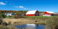 Country venue close to Fredericton