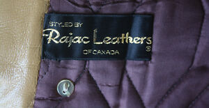 Women's Full Length Leather and Beaver Fur Coat Size Large London Ontario image 5