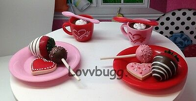 """Warm Your Heart Cocoa Set for 15"""" Bitty 18"""" American Girl Doll Food Accessory"""