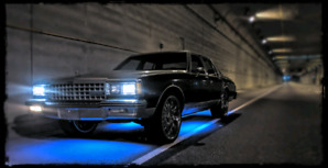 1983 Caprice classic on 22s. Rockford subwoofers