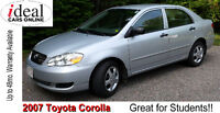 2007 Toyota Corolla    ---- Air Conditioning and Cruise!!----