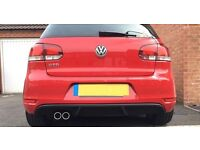 Reiger Style Rear Diffuser for VW Golf GTD Mk6 - GTI Style Rear Valance Apron