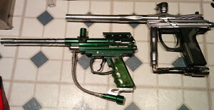 2 Paintball Markers with equipment
