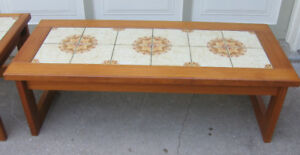 1970S TEAK COFFEE TABLE AND SIDE TABLE - GRT. ORIG. COND