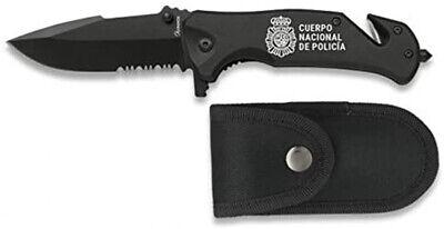 NAVAJA ALBAINOX TACTICA CUERPO NACIONAL DE POLICIA ACERO INOX. 8,3 CM 19800.