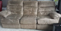 Brown Microfiber Reclining Sofa (2 available)