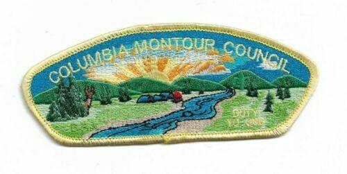 boy scout columbia-montour council FOS 2001 duty to god patch mint