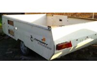Large BRAKED trailer with galvanised chassis - gardening, diy, quad, motorbike, teardrop camper etc