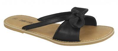 Schwarze Damen Slip auf Sandalen By Leather Collection Verkaufspreis