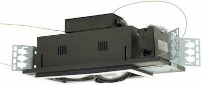 "Jesco Lighting MGP30-2WB 14"" Double Gimbal PAR30 2-Light Linear, Black Interior"