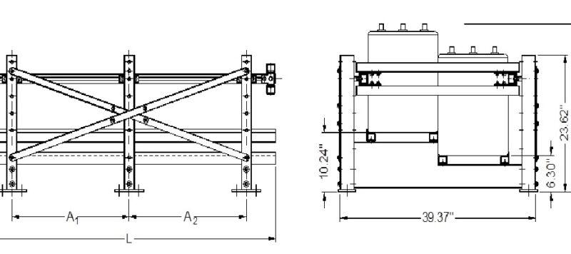 ST2SM-12B Seismic Battery Rack 2 Tier