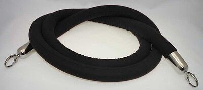 Stanchion Rope Velour Black With Pol Chrome Hks 8