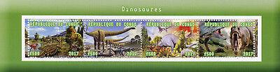 Congo 2017 CTO Dinosaurs 4v M/S II Dinosaur Stamps