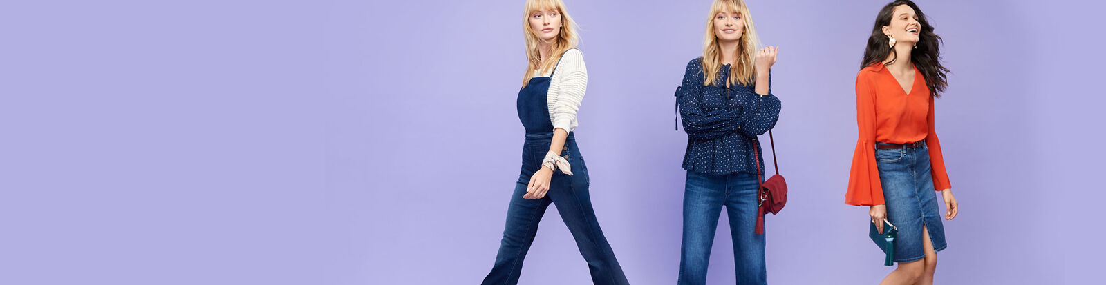 Flares, jumpsuits, and more trending styles from $29.99.