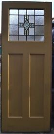 5 internal leaded light stained glass doors OR SELL SEPERATELY. R492