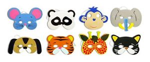 10 x Childrens Foam Animal Masks Party Bag Filler Toys