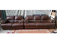 3 2 leather sofas
