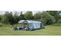 Kampa Croyde 8 (Series 3) 8 berth family camping tent with footprint and 2 x Storm Strap Down Kits