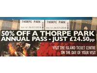 Thorpe Park 26th July - 2 tickets