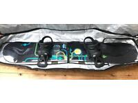 Burton Mayhem 158 Snowboard, Roller Boardbag & Mission Bindings