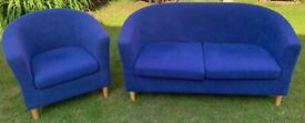 Tub chair and 2 seater sofa