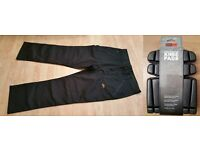 Brand New Site Safety Workwear Trousers Black Multipurpose with Brand New Knee Pads - 40W, 32L