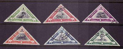 Liberia # 271-76 Complete 1937 Set Fauna Triangle