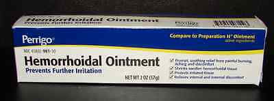 Perrigo Hemorrhoidal Ointment (Compare to Preparation H Ointment) 2oz Tube Hemorrhoidal Ointment Tube