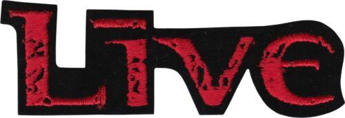 "Patch - Live Logo Red Black Alternative Rock Grunge Music 5.375"" Iron On #9406"