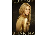 1 or 2 STANDING TICKETS for Shakira concert in London O2 Arena, 11 June