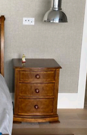 Two Solid Wood Bedside Tables from And So To Bed