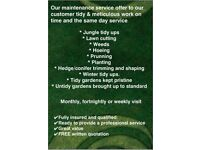 RELIABLE GARDENING SERVICES WITH REASONABLE PRICES