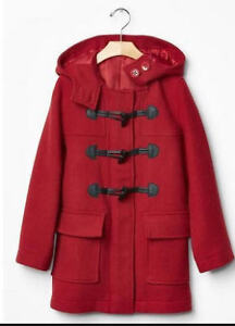 Gap Kids Cable Red Duffle coat, size 12, $10