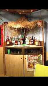 Custom built tiki bar